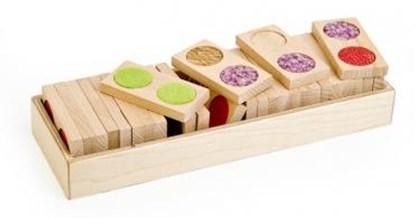 Bild von Domino dotykowe duże - gra dla dzieci widzących i niewidomych