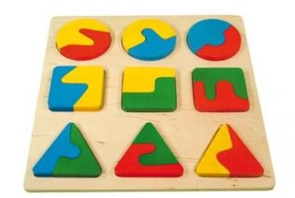 Obrazek Nakładanka 3 figury - zabawka edukacyjna