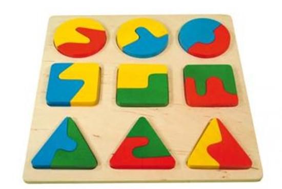 Bild von Nakładanka 3 figury - zabawka edukacyjna