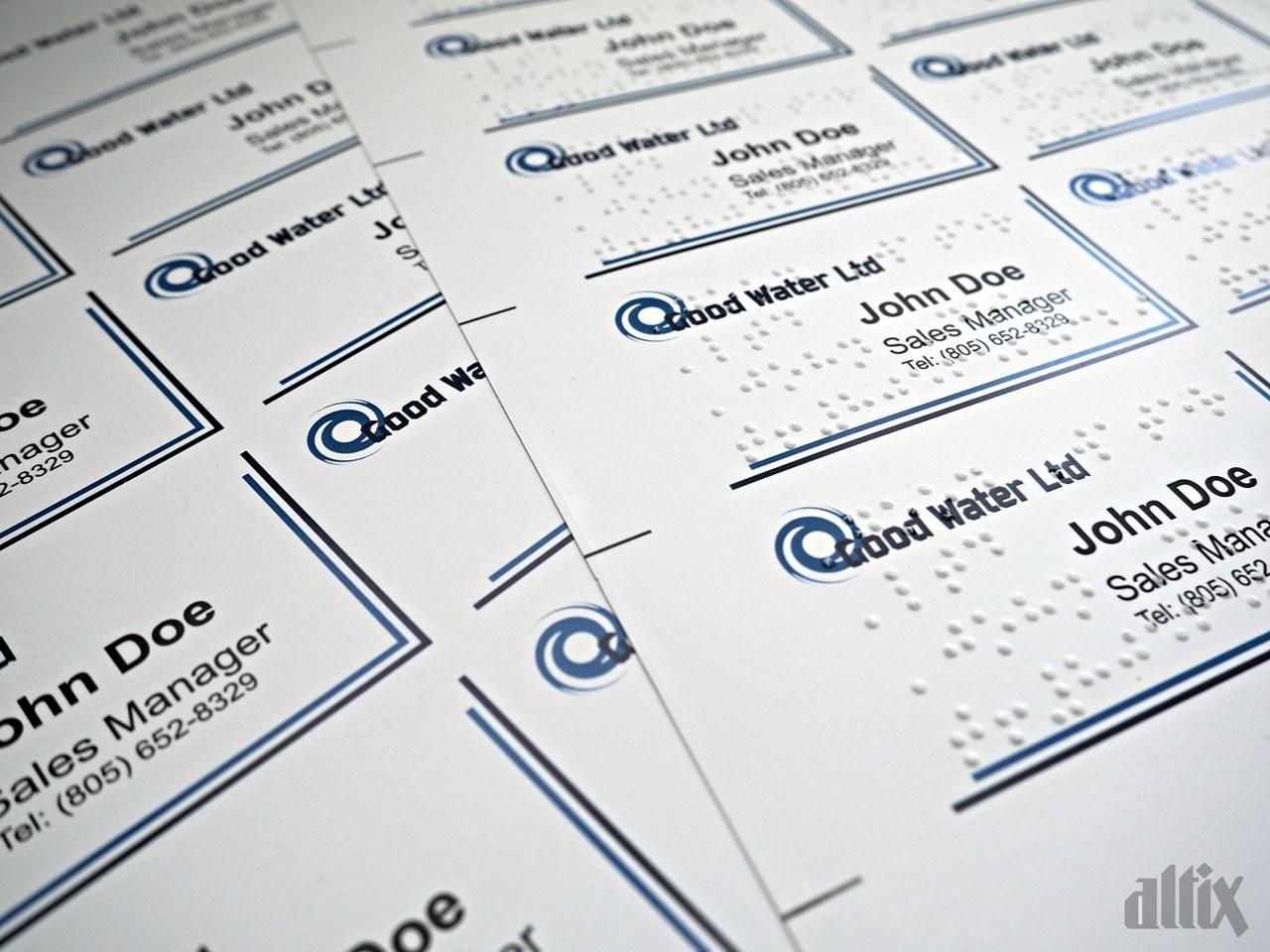 Visitenkarten Mit Brailleschrift Sklep Altix Komputery