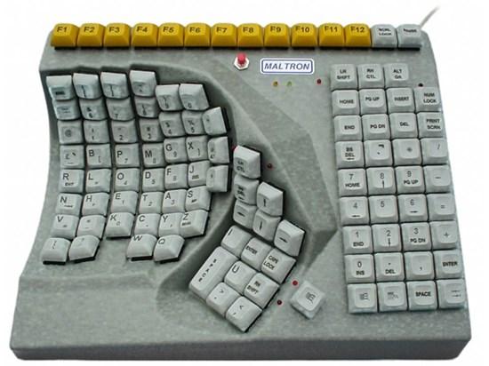 Снимка на Maltron –  jednoręczna klawiatura specjalistyczna