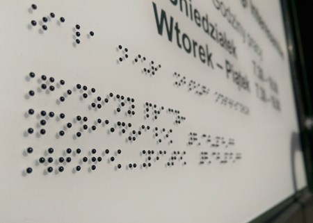 Bild für Kategorie Braille labels and signs