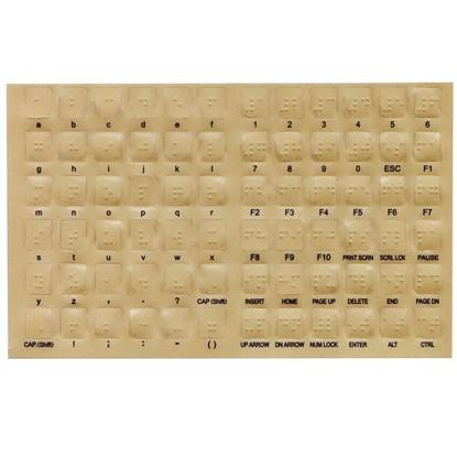 Przezroczyste naklejki brajlowskie na klawiaturę komputerową