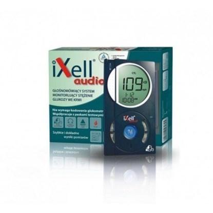 Zdjęcie przedstawia pudełko oraz glukometr