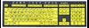 Klawiatura ZoomText czarne napisy na żółtym tle