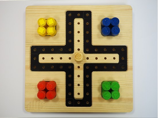 Picture of Ludo, tactile board game