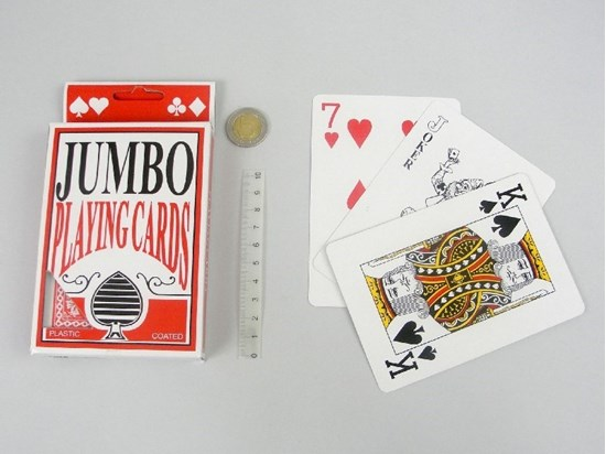 Picture of Karty do gry Jumbo - duży rozmiar z powiększonym drukiem