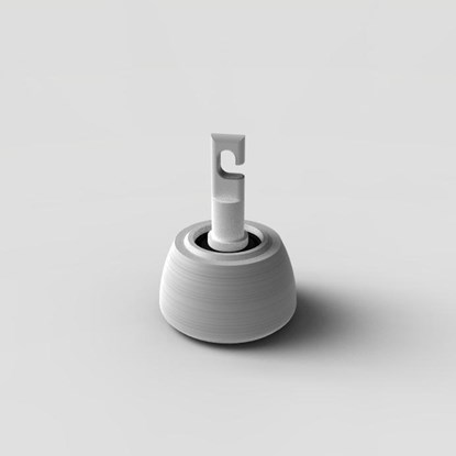 Obrazek Końcówka Flex do białej laski - polietylenowa, w kształcie dzwonka