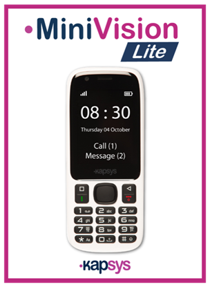 Obrazek MiniVision Lite – telefon dla niewidomych i niedowidzących