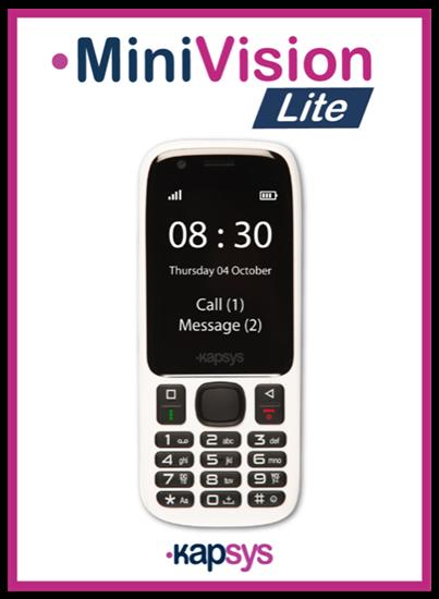 Снимка на MiniVision Lite – telefon dla niewidomych i niedowidzących
