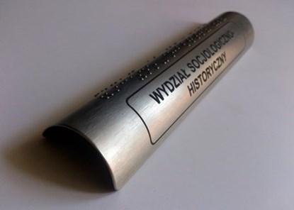 Изображение Nakładki z aluminium anodowanego z brajlem i z grawerowanym laminatem