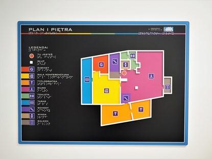 Obrazek Plan tyflograficzny z tworzywa sztucznego (PMMA)