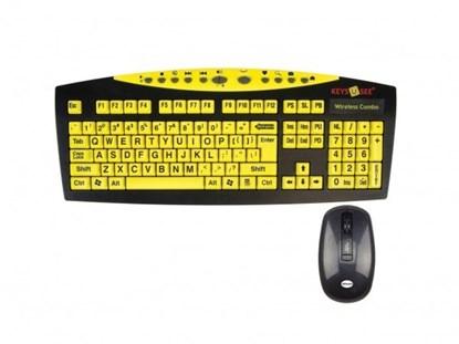Bild von Keys-U-See - klawiatura bezprzewodowa, z dużymi klawiszami i z myszą