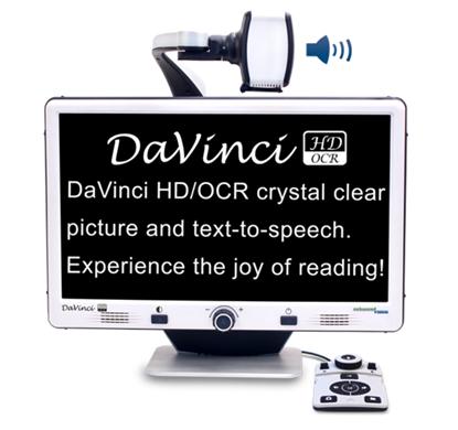 Obrazek DaVinci – powiększalnik stacjonarny z OCR i zamianą tekstu na mowę