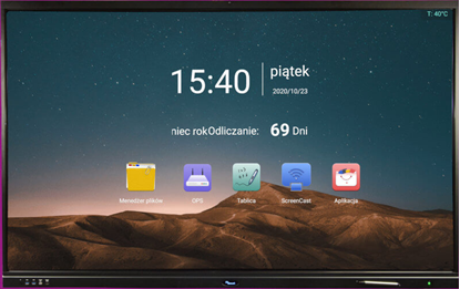 "Снимка на IDBoard 65"" Android 8.0 4K CAM – monitor interaktywny"